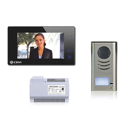 Cdvi Cdv4791 B 2 Wire 1 Way Video Door Entry Kit Black Video Kits