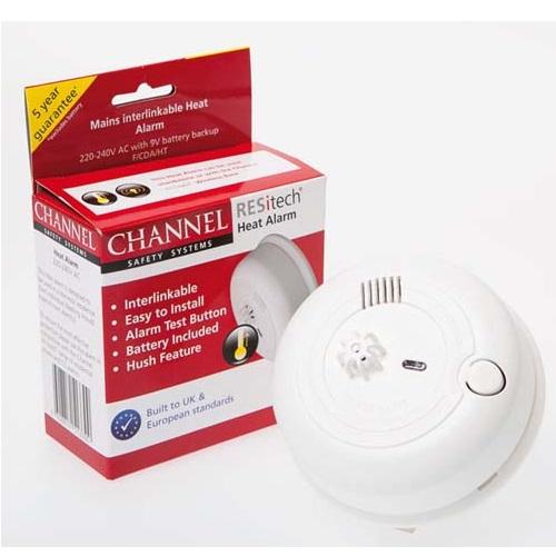 230v mains powered heat alarms. Black Bedroom Furniture Sets. Home Design Ideas