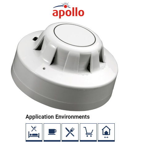 55000-216APO, Series 65 Ionisation Smoke Detector With Flashing LED