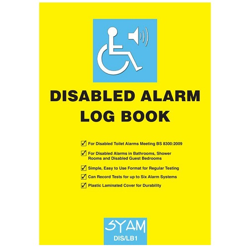SYAM (DIS/LB1) Disabled Alarm Log Book, A4 Format