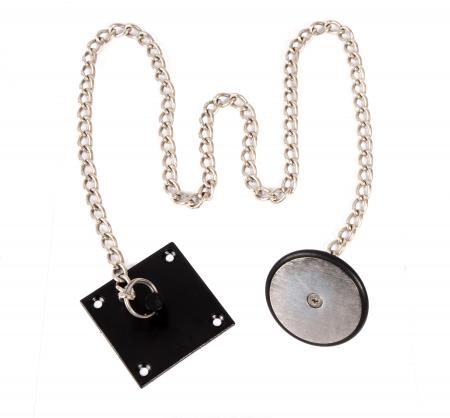 DR-ARM-1/BK, Armature Plate in Black with a 95cm length of chain