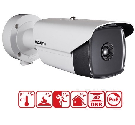 DS-2TD2136-35/V1, 12VDC/24VAC & PoE+, Thermal N/W Bullet Camera-35mm