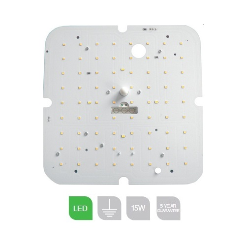 E15LEDSEMMSDIM, 15W 3500K Square LED Gear Tray Emerg. w/M Sensor