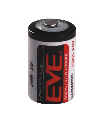 EVE, ER14250(HALF-AA), 3.6V Lithium HALF-AA Type Battery with 1200mAh Capacity