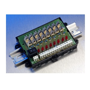 Elmdene, FOM8-DIN, 8 Way Fused Outpt Module