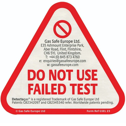 GSEL 23, Failed Test Stickers for CO and Smoke Alarms (50 Sticke ...