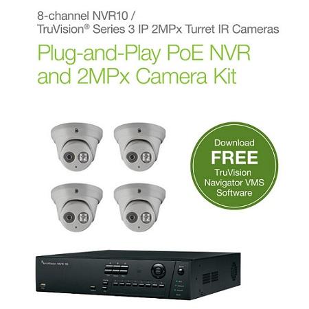 NVR 10 (TVN-1008-KT1) 8-PoE Port HD NVR 4 IND/ODR Turret