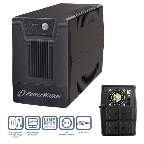 PowerWalker VI 1500 SC UK UPS (900W)