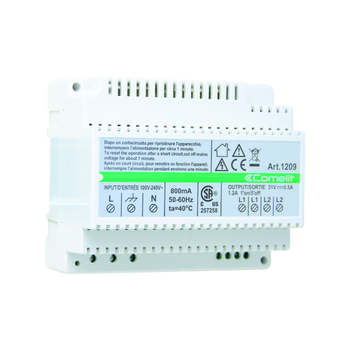 COMELIT (1209), 2-WIRE VIDEO KIT POWER SUPPLY UNIT Power Supplies ...