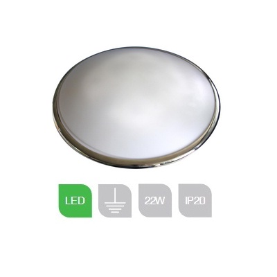 WIL22LEDCEMS, 22W 4000K LED W. Fitting Emerg Chrome/Opal M/Sensor